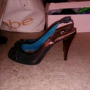 Antonio Melani slingback peep toe heels 👠